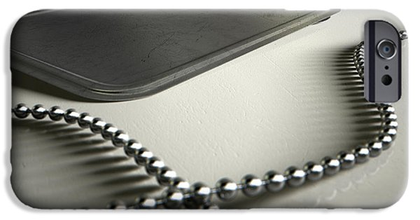 Jewellery Digital Art iPhone Cases - Blank Identity Dog Tags Dramatic iPhone Case by Allan Swart