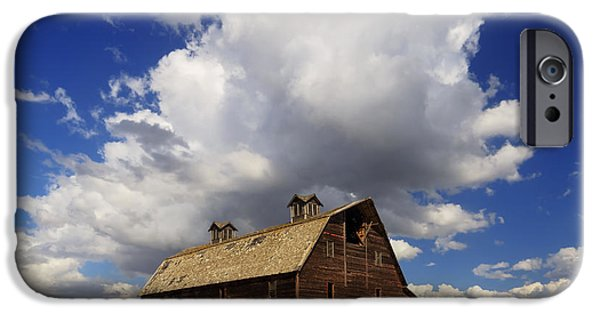 Old Barn iPhone Cases - Blasdel Barn iPhone Case by Mark Kiver
