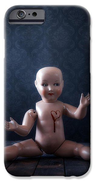 Dolls iPhone Cases - Bleeding Heart iPhone Case by Joana Kruse