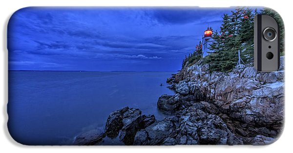 New England Lighthouse iPhone Cases - Blue Dawn iPhone Case by Rick Berk