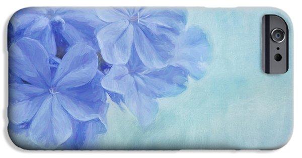 Subtle Colors iPhone Cases - Blue Fantasy iPhone Case by Kim Hojnacki