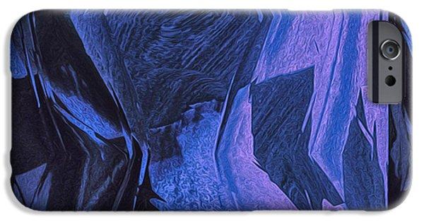 Ledge Digital iPhone Cases - Blue iPhone Case by Jack Zulli