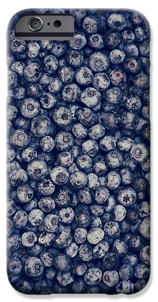 Blueberry iPhone Cases - Blueberries iPhone Case by Tim Gainey