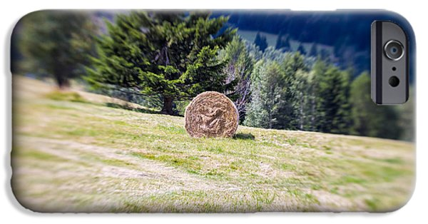 Summer iPhone Cases - Blurred Mountain Sheaf. Lensbaby Shot iPhone Case by Francesco Rizzato