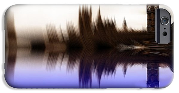 Westminster Palace iPhone Cases - Blurred Politics iPhone Case by Sharon Lisa Clarke