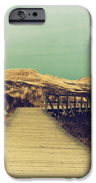 Sand Dunes Mixed Media iPhone Cases - Boarded Walkway iPhone Case by Angela Doelling AD DESIGN Photo and PhotoArt