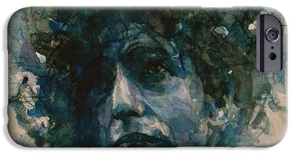Bob Paintings iPhone Cases - Bob Dylan iPhone Case by Paul Lovering