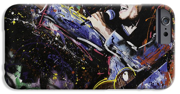 Recently Sold -  - Abstracts iPhone Cases - Bob Marley iPhone Case by Richard Day