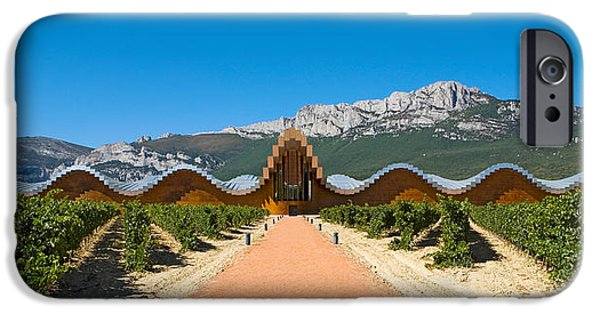 Winery Photography iPhone Cases - Bodegas Ysios Winery Building iPhone Case by Panoramic Images