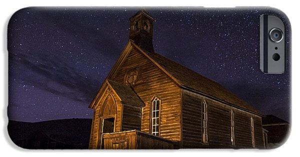 Buildings iPhone Cases - Bodie Church iPhone Case by Cat Connor