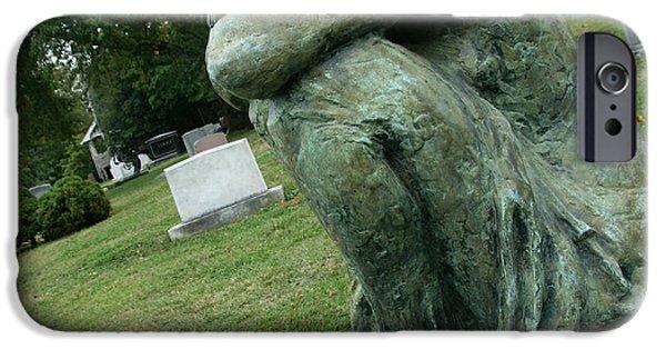 Cora Wandel iPhone Cases - Boehler Grave Sculpture iPhone Case by Cora Wandel