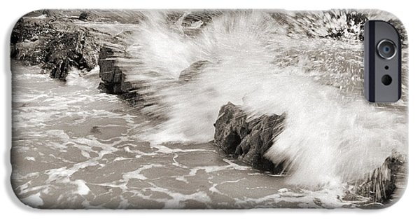 Seacapes iPhone Cases - Bolonia waves iPhone Case by Guido Montanes Castillo