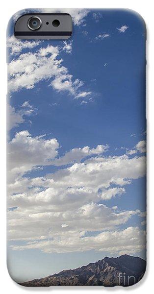Black And White Landscapes iPhone Cases - Bonneville Salt Flats Landscape iPhone Case by Holly Martin