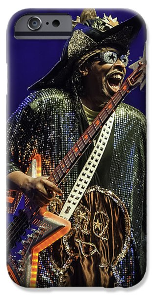 David iPhone Cases - Bootsy Collins  iPhone Case by David Simchock