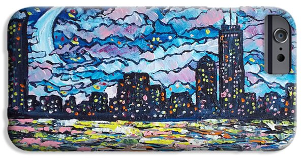 Recently Sold -  - City. Boston iPhone Cases - Boston Cityscape Moon iPhone Case by Tracy Levesque