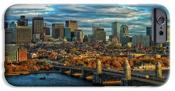 Charles River iPhone Cases - Boston in Autumn iPhone Case by Mountain Dreams