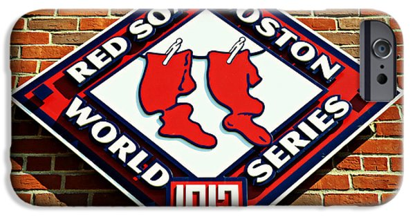 Bosox iPhone Cases - Boston Red Sox 1912 World Champions iPhone Case by Stephen Stookey