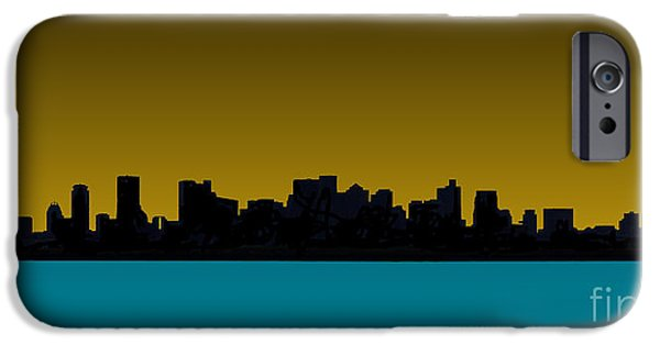 Boston Red Sox iPhone Cases - Boston Skyline iPhone Case by Stephen Allen