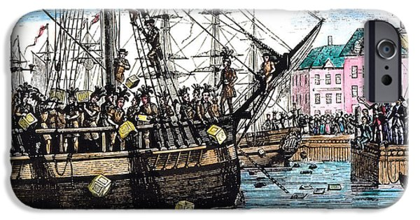 Tea Party iPhone Cases - Boston Tea Party, 1773 iPhone Case by Granger