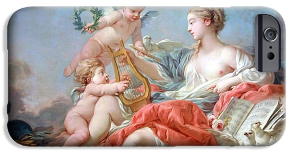 Cora Wandel iPhone Cases - Bouchers Allegory Of Music iPhone Case by Cora Wandel