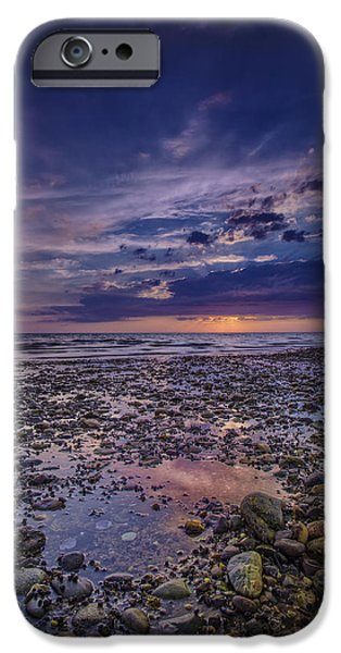 Storm Clouds Cape Cod iPhone Cases - Bound Brook Sunset iPhone Case by Rick Berk