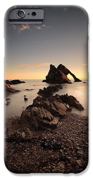 North Sea iPhone Cases - Bow Fiddle Rock iPhone Case by Grant Glendinning
