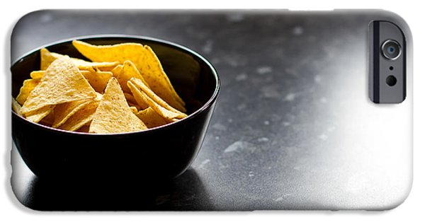 Chip iPhone Cases - Bowl Of Tortilla Chips iPhone Case by Fizzy Image