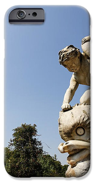 Boy and Dolphin sculpture by Alexander Munro in Hyde Park London England iPhone Case by Robert Preston