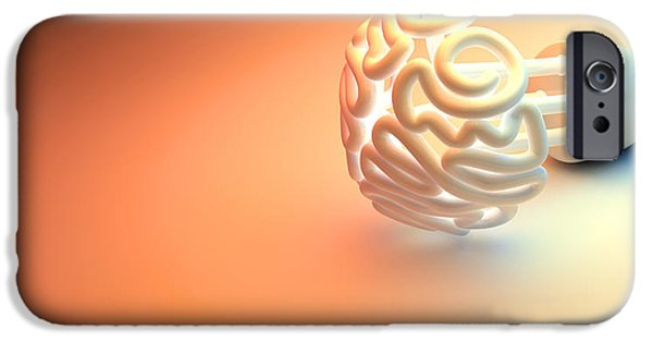 Brains iPhone Cases - Brain Flourescent Light Bulb iPhone Case by Allan Swart