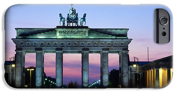 Berlin Germany iPhone Cases - Brandenburg Gate, Berlin, Germany iPhone Case by Panoramic Images