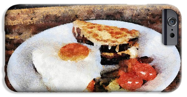 Child Pyrography iPhone Cases - Breakfast iPhone Case by Yury Bashkin