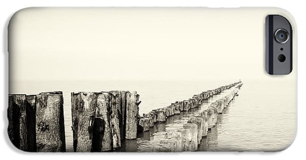 North Sea iPhone Cases - Breakwaters iPhone Case by Wim Lanclus