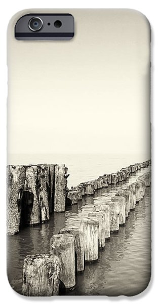 Breakwaters iPhone Case by Wim Lanclus