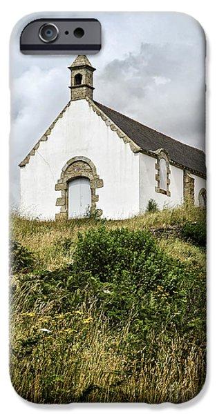 Facade iPhone Cases - Breton church iPhone Case by Elena Elisseeva