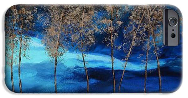 Turbulent Skies Paintings iPhone Cases - Brewing Storm iPhone Case by Linda Bailey