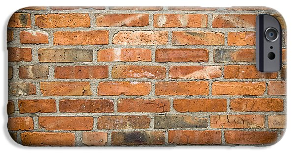 Brick iPhone Cases - Brick Wall iPhone Case by Frank Tschakert