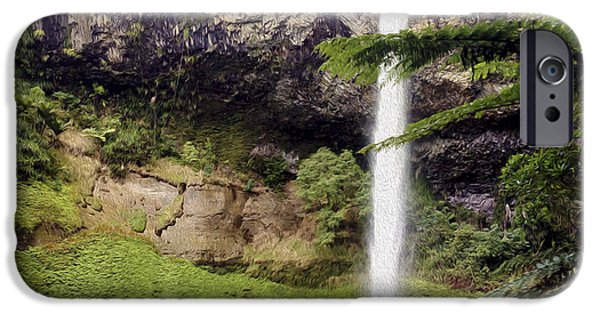 Spring Scenery iPhone Cases - Bridal Veil Falls iPhone Case by Les Cunliffe