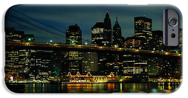 Connection iPhone Cases - Bridge Across A River, Brooklyn Bridge iPhone Case by Panoramic Images