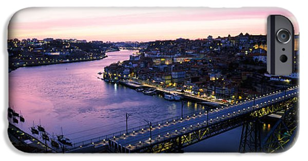 Connection iPhone Cases - Bridge Across A River, Dom Luis I iPhone Case by Panoramic Images