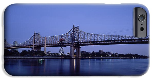 Connection iPhone Cases - Bridge Across A River, Queensboro iPhone Case by Panoramic Images
