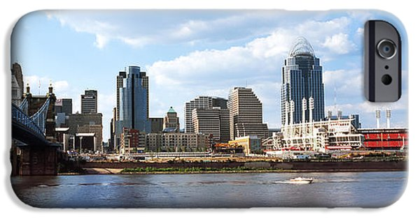 Connection iPhone Cases - Bridge Across The Ohio River iPhone Case by Panoramic Images
