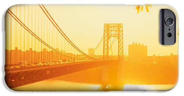 Hudson River iPhone Cases - Bridge Across The River, George iPhone Case by Panoramic Images