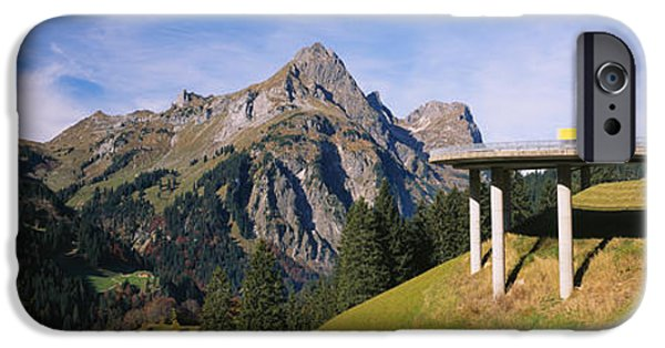 Land Vehicle iPhone Cases - Bridge On Mountains, Mountain Pass iPhone Case by Panoramic Images