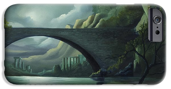 Moonscape iPhone Cases - Bridge to Nowhere iPhone Case by James Christopher Hill