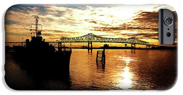 Baton Rouge iPhone Cases - Bright Time on the River iPhone Case by Scott Pellegrin