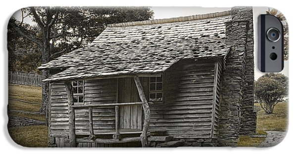 Pioneer Scene iPhone Cases - Brinegar Cabin in the Blue Ridge Parkway iPhone Case by Randall Nyhof