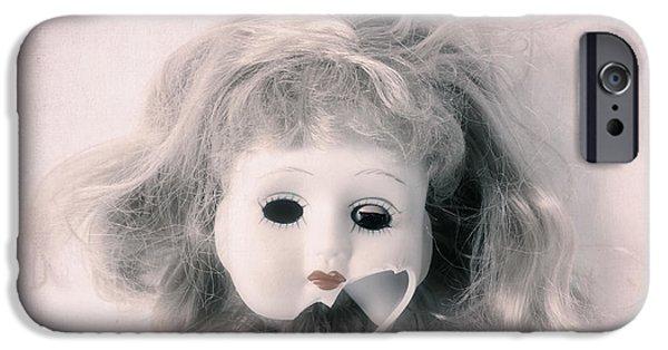 Creepy iPhone Cases - Broken Head iPhone Case by Joana Kruse