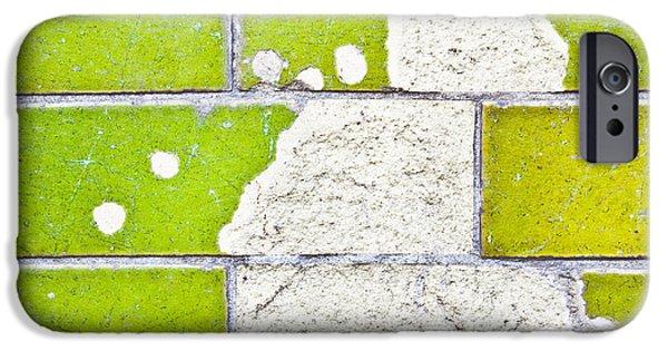Torn iPhone Cases - Broken tiles iPhone Case by Tom Gowanlock