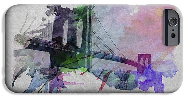 Brooklyn Bridge Digital Art iPhone Cases - Brooklyn Bridge 2 iPhone Case by Stefan Kuhn
