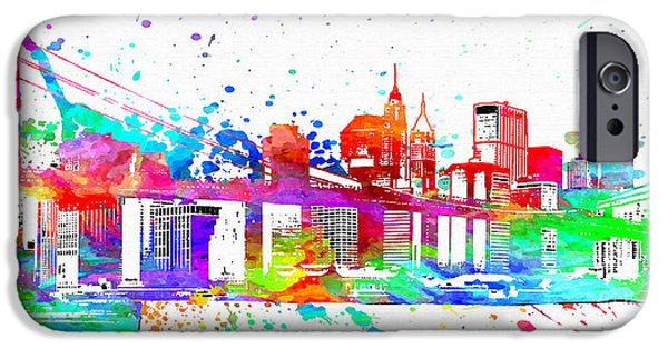 Brooklyn Bridge Mixed Media iPhone Cases - Brooklyn Bridge  iPhone Case by Daniel Janda
